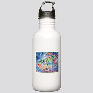 Fish, Colorful, Stainless Water Bottle 1.0L